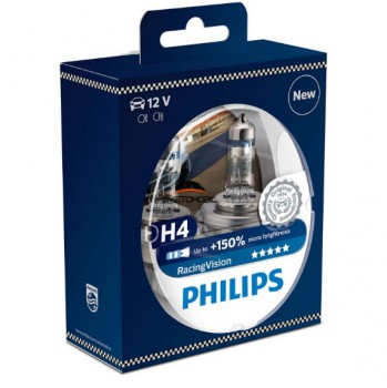 Philips Racing Vision + 150% H4 12V/55 w