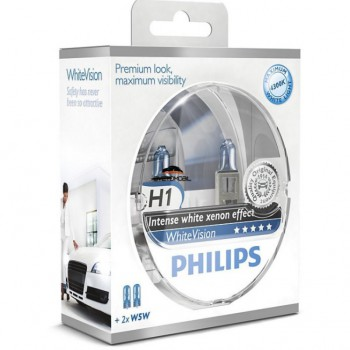 Philips WhiteVision H1 + 2W5W 12V/55w
