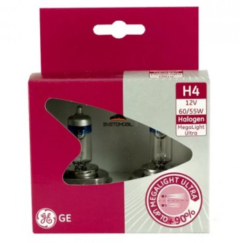 General Electric Megalight Ultra + 90% H4 12V/55 w